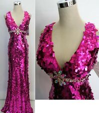 NWT RIVA DESIGNS R9569 Hot Pink $498 Prom Formal Gown 00