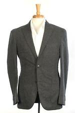 Boglioli NWT Gray Black Small Check 2 Button Cotton Nylon Sport Coat 48 IT 38 US