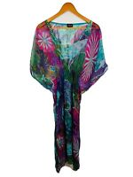 Bondi Beach Bag Co Womens Kaftan Dress One Size Multicoloured Gorgeous Design