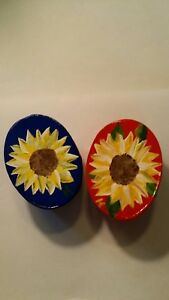 Handmade, Hand- Painted, One-of-a-Kind, Small Sunflower Keepsake Boxes