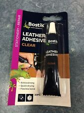 BOSTIC CLEAR LEATHER ADHESIVE 20ML IDEAL FOR BAGS,BELTS AND SHOE SOLES