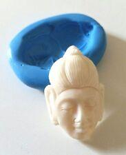 Buddha Face Silicone Mould 40mm Spiritual Icing Polymer Clay Sugarcraft Fimo