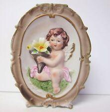 Vintage Angel Holding Flowers Wall Pocket Vase - Norleans