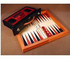 RARE Chiellini Italian Made Backgammon Set Wooden Built In Storage Drawer
