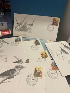Australian 1978 Nature's Flying colors Native birds complete set first day cover