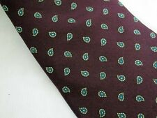 Neil Martin Silk Tie Dark Paisley Dark Purple Imported Silk Necktie USA Made