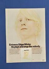 Original 1970 Edgar Winter 1st Album Large Promo Ad