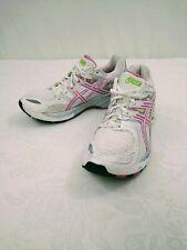Womens asics T050N White Pink Silver Gel-Kayano 16 Running Shoes Sz 8