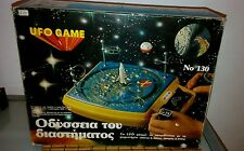 VINTAGE 70's UFO CONTROLLED GAME SPACE TOY GREEK  EDITION B/O-MIB!