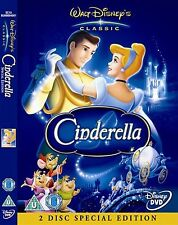 CINDERELLA 2 DISC EDITION Ilene Woods, Eleanor Original Disney NEW UK R2 DVD