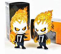 "Ghost Rider Johnny Blaze 4.7"" PVC Bobble Head New in Box"