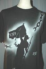 Vintage 1980s French Revolution Large Black Caloi T-Shirt L Vive La France Paris