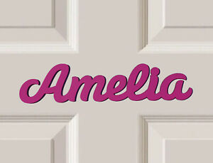 *ANY NAME & ANY COLOUR* Personalised Wooden Name Plaques, Bedroom Door Sign #40#