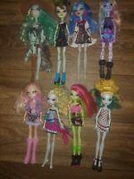 Monster High Doll Lot Of 8