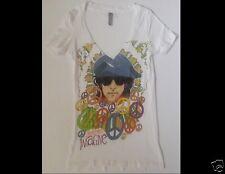JOHN LENNON ( The Beatles ) Imagine Junior Size Small White T-Shirt