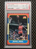 1986-87 Fleer #57 Michael Jordan Chicago Bulls Rookie Card (Centered)(PSA 6.5)🔥