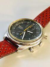 Vintage Seiko Chronograph Jumbo Mens Wrist Watch 6138-3002 Racer Band Works 41mm