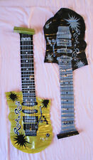 Inflatable guitars gold and black