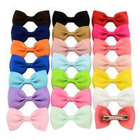 1 Piece Baby Girls Hair Pin Clip Grosgrain Ribbon Bow Decor Hair Accessories