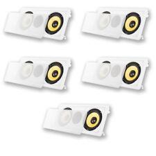 "Acoustic Audio HD-6c In-Wall 6.5"" Left Center Right 5 Speaker Set 1750W HD-6c-5S"