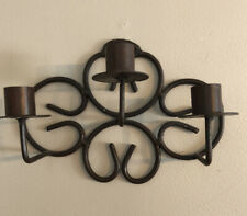Two Bronze Metal color Candle holders for Taper Candels