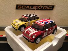 Scalextric 2 Mini Coopers From John Cooper Challenge Set (Mint Condition)