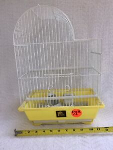 Prevue Hendryx White with Yellow Bottom Small-Med Bird # ECONO-6 Parakeet Cage