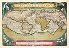 World+Map+Abraham+Ortelius+1570+Historic+Globe+Model+Wall+Art+Poster+Print+11x16