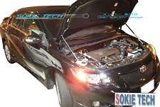 08-13 Toyota Corolla / Altis White Strut Hood Shock Lift Stainless Damper Kit