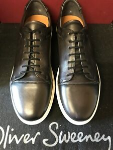 oliver sweeney, brand new ,black calf  leather , cupsole sneaker , size 9-5  uk