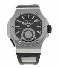 Bvlgari Endurer Chronograph Automatic Black Dial Men's Black Rubber Watch 101878