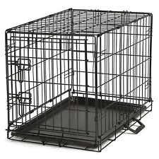 ProSelect Easy Crate XL Wire Kennel for Large Dogs and Pets with Tray, Black