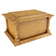 Solid Wood Wooden Ashes Casket Urn Funeral Cremation Burial COMPANION BNIB