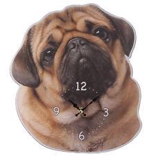 Wanduhr Mops Hund Haustiere Möpse Hunde Wanduhren Uhr Uhren Bilderuhr Bilduhr NW