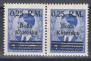 1944 Deutsche Besatzung Kotor PAAR Mi. Nr. 9 Postfrisch ** MNH € 120,--
