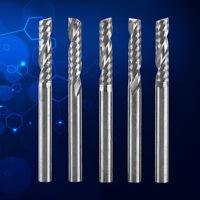"5X 3.175mm 1/8"" Shank Single Flute End Mill Milling Cutter Tungsten Carbide Tool"