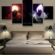 Naruto VS Sasuke Anime 5 panel canvas Wall Art Home Decor Poster Print