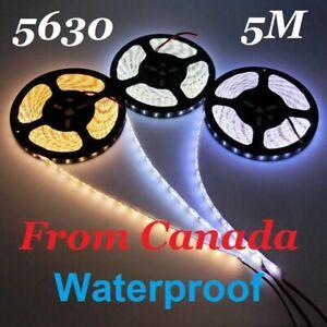 5M Neutral White 4500K 5630 SMD 300 Led Waterproof Flexible Light Strip  DC12V