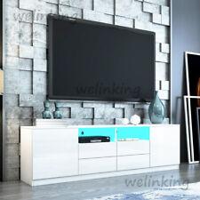 180cm TV-Schrank Lowboard Fernsehtisch mit 4 Schublade 2 Türen 2 Regal Sideboard