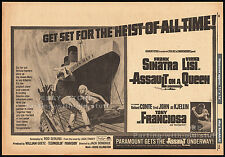 ASSAULT ON A QUEEN__Original 1966 Trade AD / poster__FRANK SINATRA__VIRNA LISI