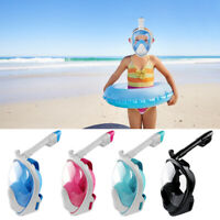 2019 Full Face Snorkel Mask Diving Swimming Set Scuba Curved Surface Kids Adults