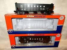 Two Lionel Lionscale Alaska three bay hopper cars w different car #s-new w boxes