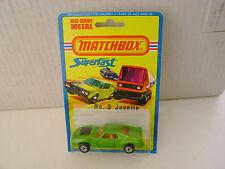1976 MATCHBOX LESNEY SUPERFAST #9 AMX JAVELIN NEW ON CARD