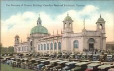 Canadian National Exhibition - Toronto Ontario Bldg & Cars - Postcard