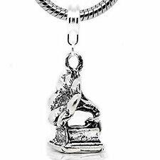 Gramophone Dangle Bead Spacer for Snake Chain Charm Bracelet