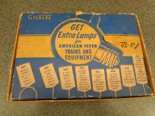 American Flyer 1953 S Gauge #460 Seldom Seen Lamp Assortment Kit In Orig. Box
