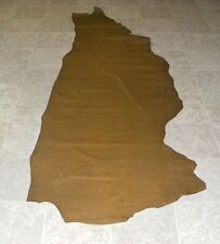 (DCE6159) Side of Green Brown Reptile Print Cow Leather Hides Skins
