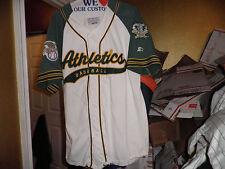 Vintage Oakland Athletics Script Throwback Baseball Starter Jersey Large