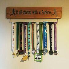 Parkrun GB Medal Display Board Hanger Oak 70cm