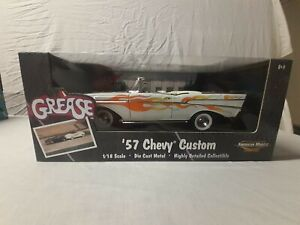 Ertl American Muscle Grease '57 Chevy Custom, White with Flames 1:18 Diecast